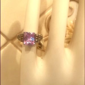 925 Silver Ring Pink Sapphire